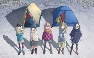 Yurucamp Key Visual