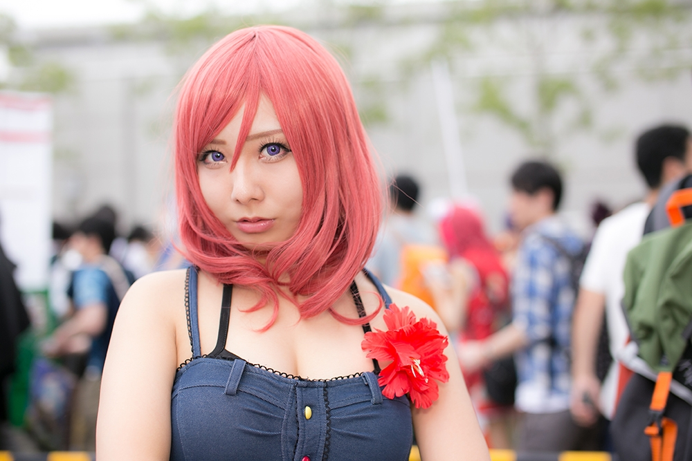 Comiket 92 Love Live! Cosplay Collection | Maki Nishikino (Swimsuit arc) cosplay