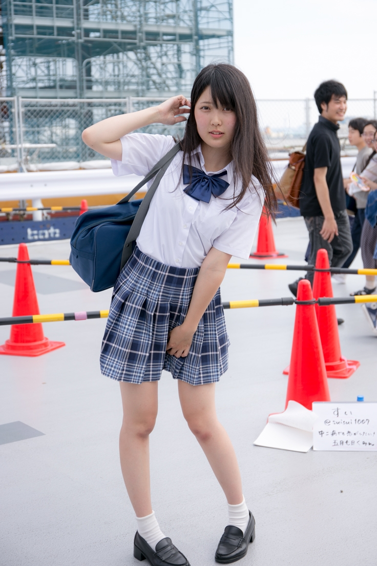 Comiket Cosplay Second Day | Original school uniform