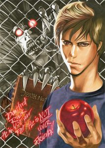Illustration of Netflix's Death Note from Take Obata