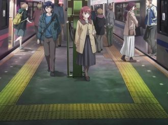Just Because! Main Characters At a Train Station In New Key Visual