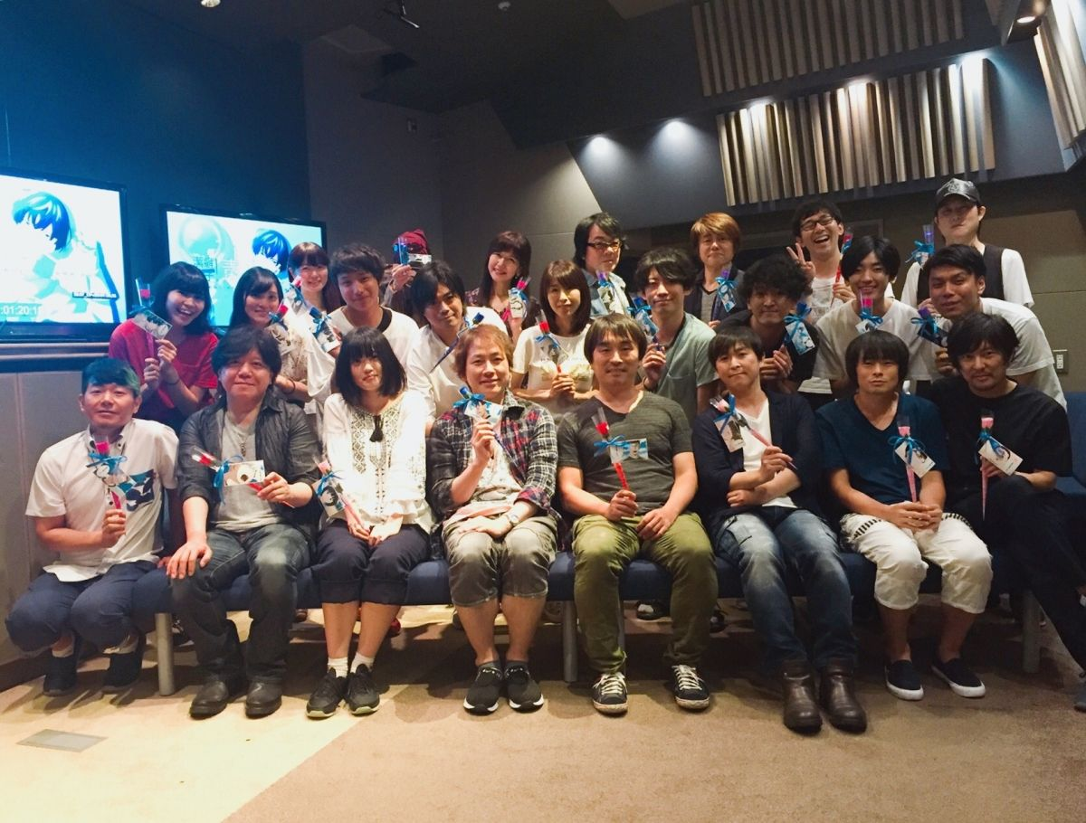 The cast of anime Clean Freak! Aoyama-kun came together for one last time in order to take a commemorative photograph.