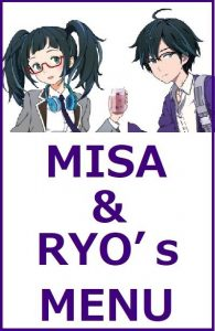 Misa & Ryo's Menu for the event 'Chikatetsu ni Notte, Kyomaf to Moe Uzumasa Cafe ni Iku!'