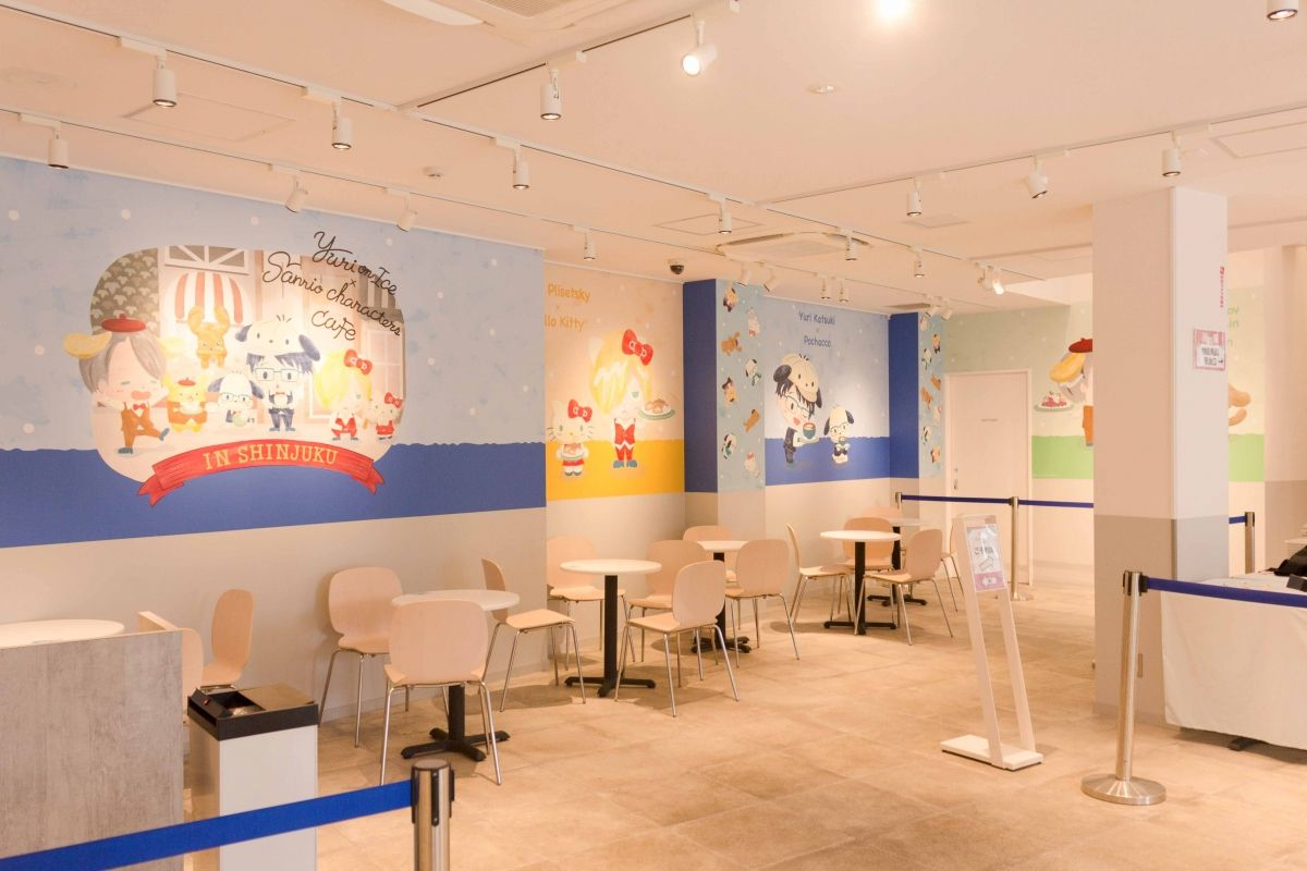 Yuri on ICE x Sanrio characters Cafe