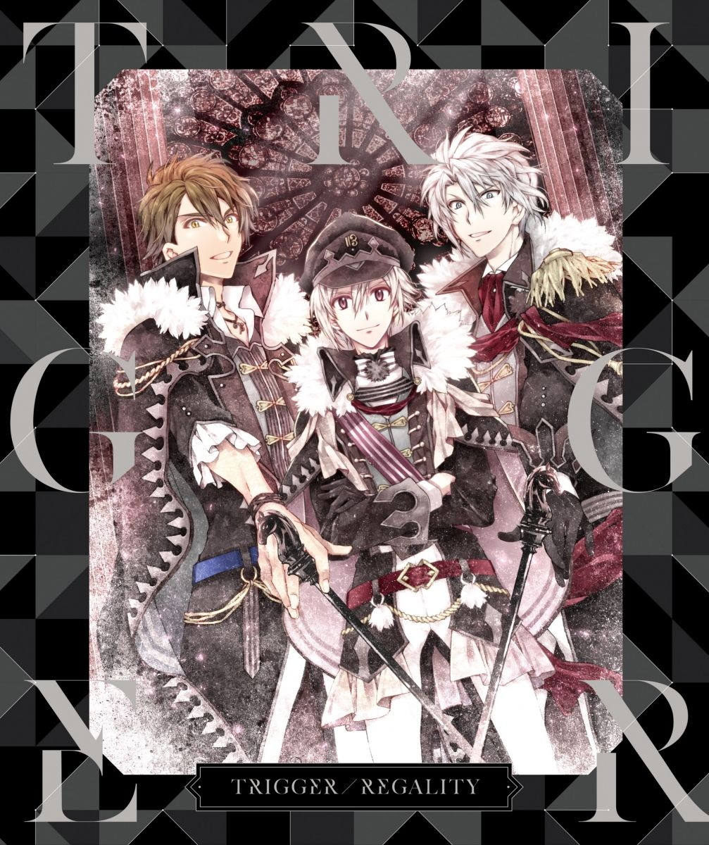 Album Covers for Regality, the first music album from Band TRIGGER from the smartphone game IDOLiSH7