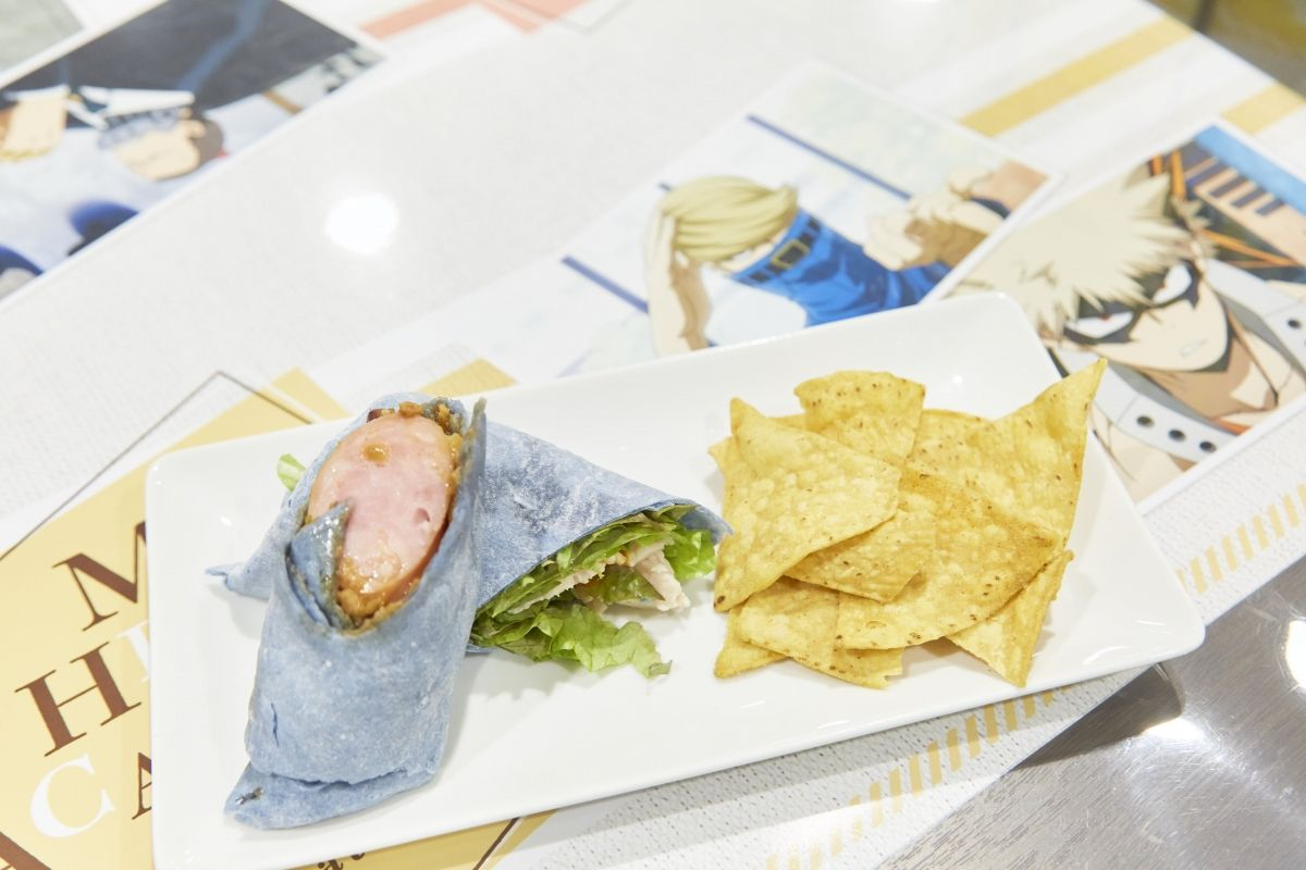 Lord Explosion Murder (Katsuki Bakugou) x Best Jeanist, Wrap Sandwich | My Hero Academia Cafe at GOOD SMILE x animate Cafe