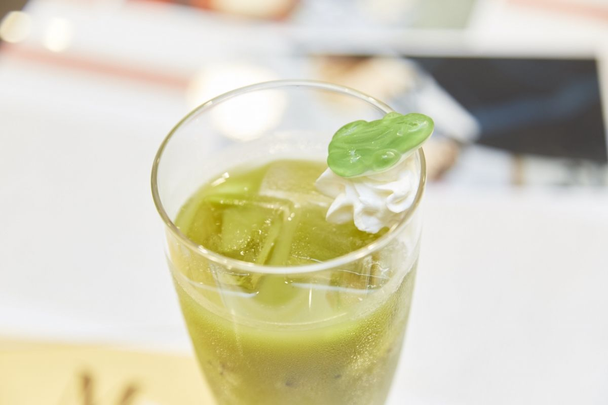 Tsuyu-chan, or Froppy's, Kiwi Fruit Drink. | My Hero Academia Cafe at GOOD SMILE x animate Cafe