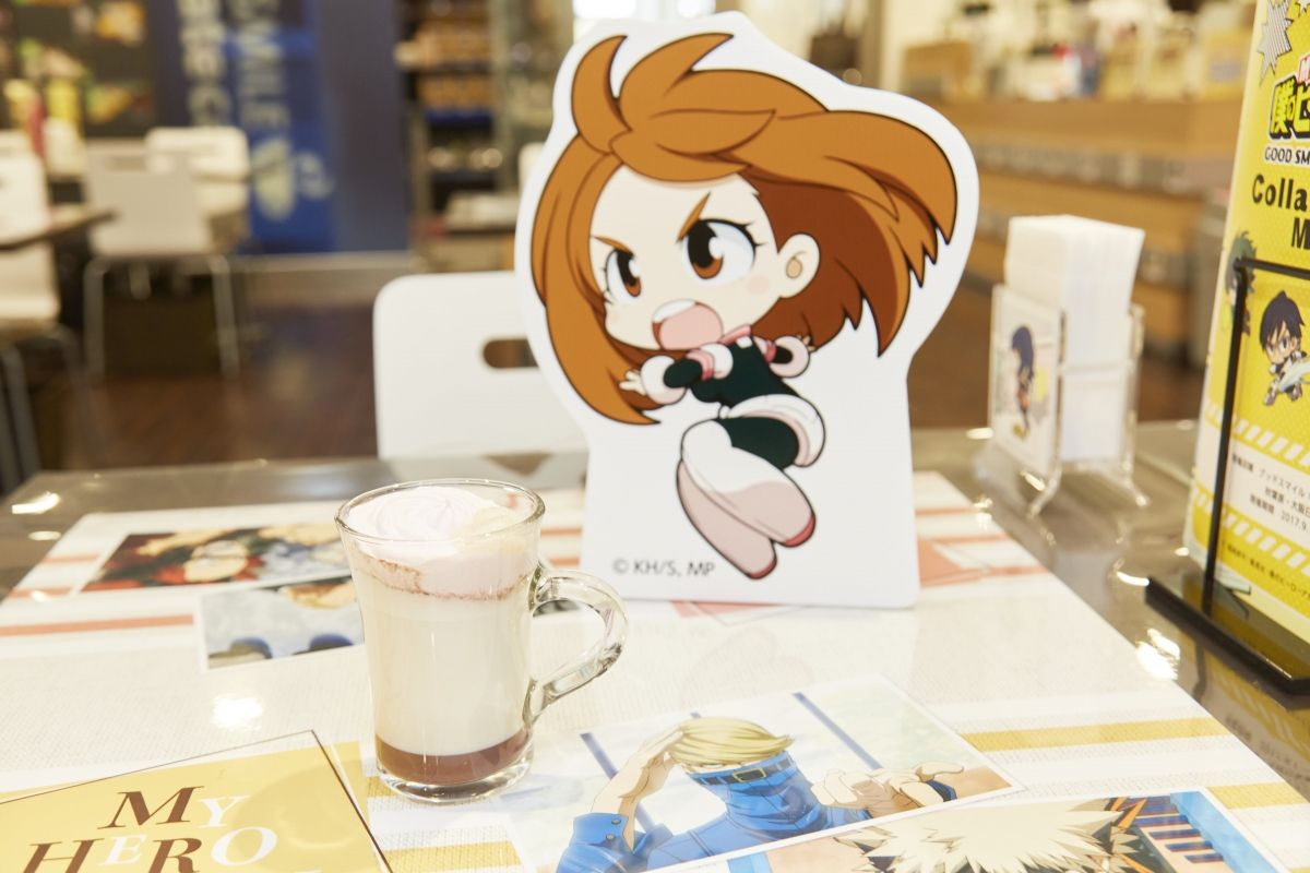 Uravity's (aka Ochako-chan's) Hot Oshiruko Latte. | My Hero Academia Cafe at GOOD SMILE x animate Cafe