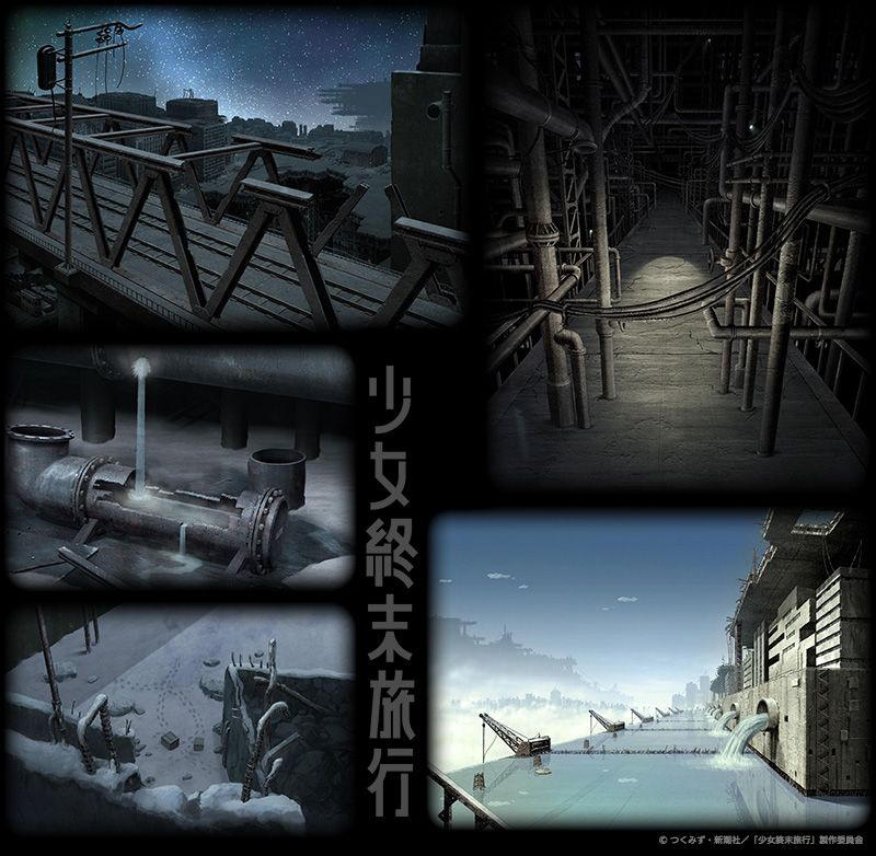 Anime Girls' Last Tour | Backgrounds