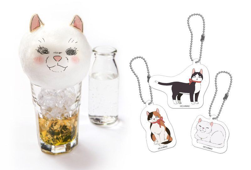 Shiro's Ume Syrup Soda with A charm of the Kawamoto cats | March Comes in Like a Lion Dining