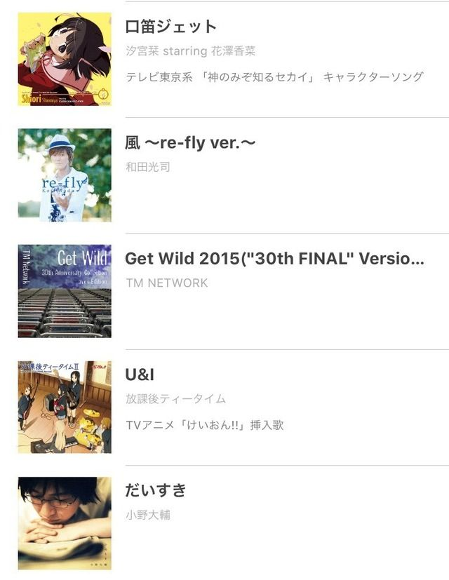 Esaki's Aniuta Playlist