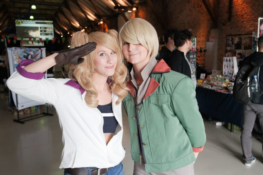 Lychee as Eco Turbine and Blueberry as Yamagi Gilmerton from Mobile Suit Gundam: Iron-Blooded Orphans | Cosplayers in Austria! AkiCon 2017 Cosplay Photo Report