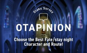MT Survey: Choose the Best Fate/stay night Character and Route!   Anime
