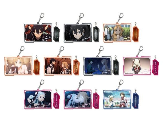 Plate keychains with scenes from the movie Sword Art Online: Ordinal Scale (a total of 10) ca. 11 cm | Anime | Japan