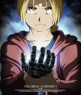 Fullmetal Alchemist: Brotherhood Anime   Cover of the first Japanese DVD volume featuring protagonist Edward Elric