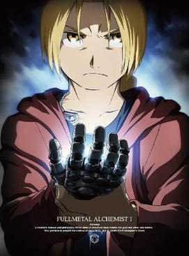 Fullmetal Alchemist: Brotherhood Anime | Cover of the first Japanese DVD volume featuring protagonist Edward Elric