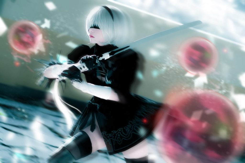 Cosplay: supermk33 as 2B from 'NieR:Automata'