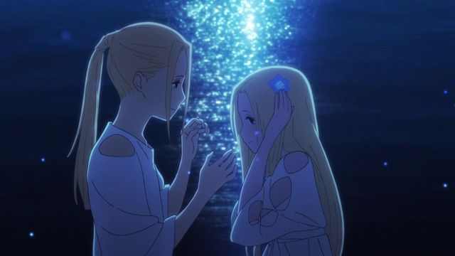Still from anime movie Maquia: When the Promised Flower Blooms (Sayonara no Asa ni Yakusoku no Hana wo Kazarou, lit. Let's Decorate the Promised Flowers in the Farewell Morning)