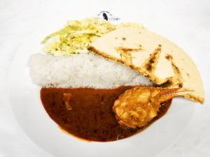 'Overlord II' Cafe Ainz' Curry with Crab Claw Nuckle 1,300 yen (+tax) | Overlord x Cure Maid Cafe Anime Collaboration | Themed Cafe