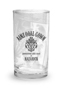 'Overlord II' Cafe Ainz Ooal Gown Glass 1,000 yen (+tax) | Overlord x Cure Maid Cafe Anime Collaboration | Themed Cafe