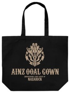 'Overlord II' Cafe Ainz Ooal Gown Large Tote Bag 1,800 yen (+tax) | Overlord x Cure Maid Cafe Anime Collaboration | Themed Cafe