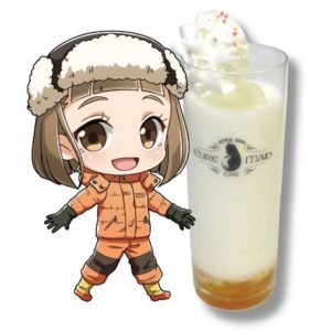 Mari Tamaki Drink | Sora Yorimo Tooi Basho x Cure Maid Cafe Collaboration Anime Themed Cafe