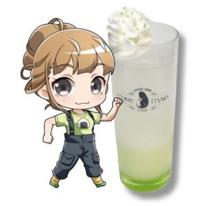 Hinata Miyake Drink | Sora Yorimo Tooi Basho x Cure Maid Cafe Collaboration Anime Themed Cafe