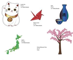 Japanese Culture Vinyl Stickers | Japan-themed Item