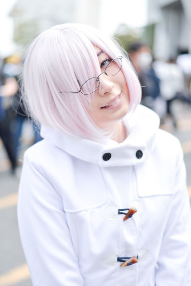 Emi Amane as Mash Kyrielight from 'Fate/Grand Order' | Cosplayers from AnimeJapan 2018
