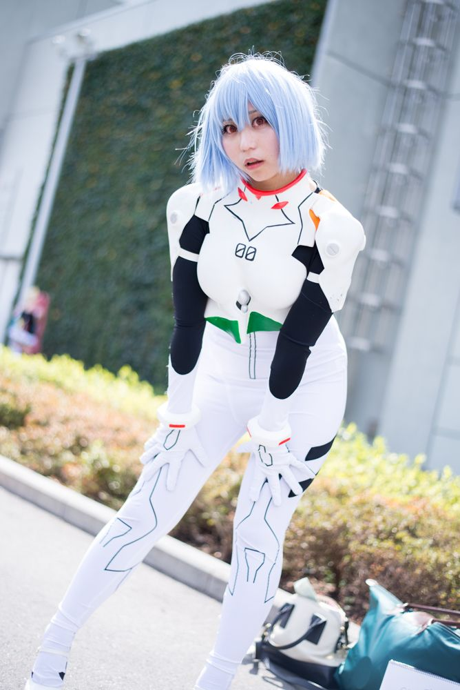 Yu Masshiro as Rei Ayanami from 'Neon Genesis Evangelion' | Cosplayers from AnimeJapan 2018