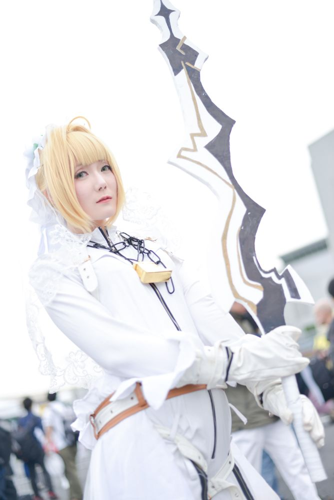 Sachu as Nero Claudius (Bride) from 'Fate/Grand Order' | Cosplayers from AnimeJapan 2018