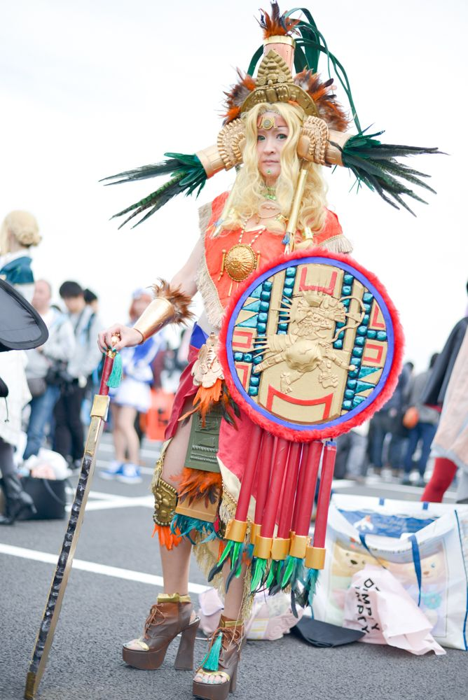 Oriti as Quetzalcoatl from 'Fate/Grand Order' | Cosplayers from AnimeJapan 2018