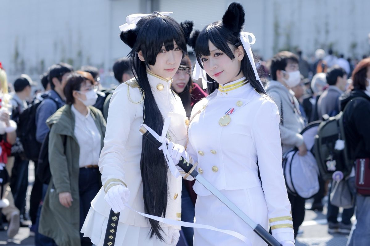 Moe Iori as Takao and Atago from 'Azur Lane' | AnimeJapan 2018 - Last Day Cosplay Gallery