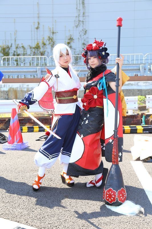 mikuro @3_Q_6 as Archer Inferno from 'Fate/GO' and 56 @56lakh as Hokusai Katsushika from 'Fate/GO' | AnimeJapan 2018 - Cosplay Compilation