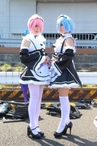 Karin @krmrpon as Rem from 'Re:Zero − Starting Life in Another World' and Karin @krmrpon Ram from 'Re:Zero − Starting Life in Another World'   AnimeJapan 2018 - Cosplay Compilation