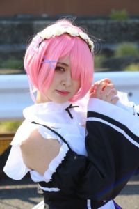 Karin @krmrpon Ram from 'Re:Zero − Starting Life in Another World'   AnimeJapan 2018 - Cosplay Compilation