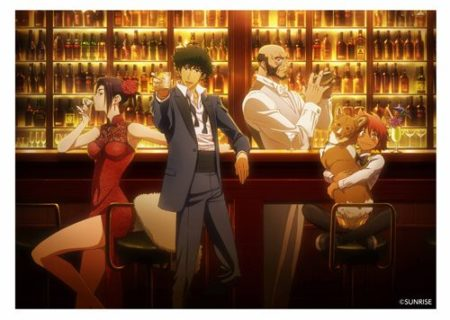 Visual for the Cowboy Bebop anime themed cafe in Japan
