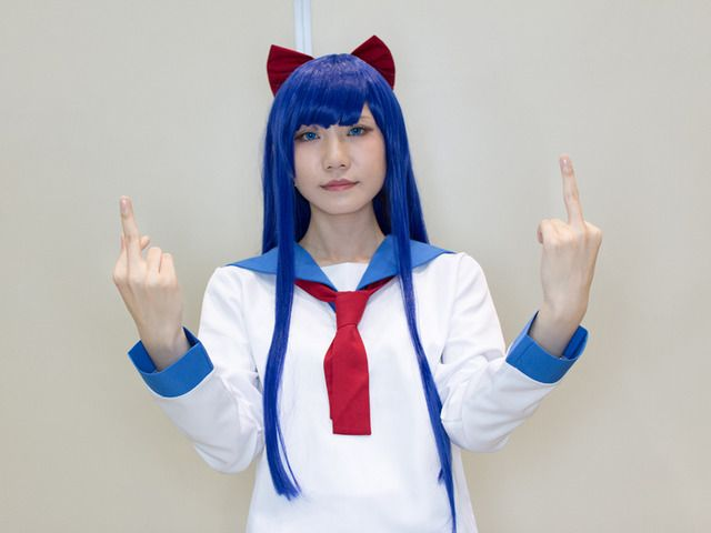 Warabi @warabineo as Popuko from 'Pop Team Epic' | Super Comic City 27 - Cosplayers from the First Day | Cosplay