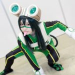 Chuken Coco @chuken_coco as Tsuyu Asui from 'My Hero Academia' | Super Comic City 27 - Cosplayers from the Second Day | Cosplay