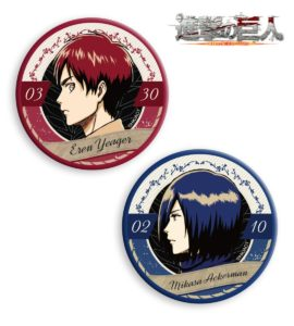 Badges | Anime Attack on Titan | Anime Merchandise Monday (4-10 June 2018)