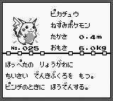 Still from the Nintendo Gameboy Game of Pokemon | Pikachu