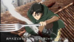 Attack on Titan x Cup Noodle Collaboration Official Anime Screenshot