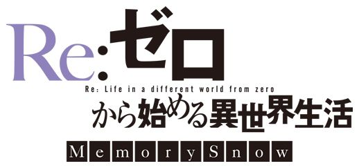 Re:Zero Starting life in Another World - Memory Snow Anime Logo