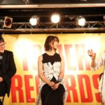 Director Mamoru Hosoda, Kun-chan's voice actress Moka Kamishiraishi, and music director Masakatsu Takagi from Mirai of the Future Original Soundtrack Release Event