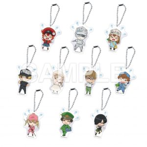 Cells at Work Collaboration Anime Cafe | Acrylic Key Holders - 1 out of 10 at random (each 600 yen +tax)