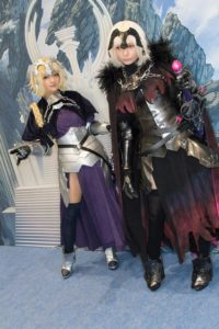 Jeanne D'arc and Jeanne D'arc Alter at the cosplay event of Fate/Grand Order Fes.2018 ~3rd Anniversary~