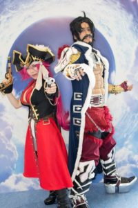 Francis Drake and Edward Teach (Black Beard) at the cosplay event of Fate/Grand Order Fes.2018 ~3rd Anniversary~
