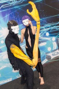 Hassan of Serenity and Hassan of Cursed at the cosplay event of Fate/Grand Order Fes.2018 ~3rd Anniversary~