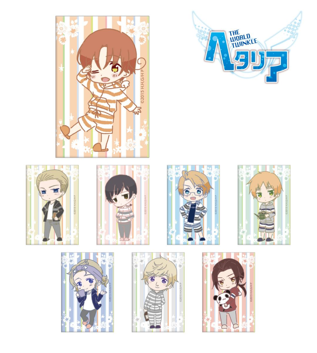 Magnet | Anime Hetalia - The World Twinkle | Anime Merchandise Monday (5-12 August) by MANGA.TOKYO ©2015 日丸屋秀和・幻冬舎コミックス/ヘタリア製作委員会