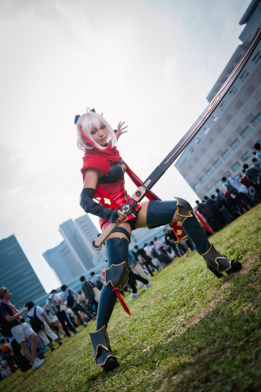 natsume (@natsume0v0) as Okita Soji (Alter) from Fate/Grand Order/ Photo: 寒黙 | Comiket 94: Beautiful Female Cosplayers from Day 3